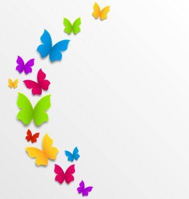 Фотообои Аннотация фон весной с радугой бабочек