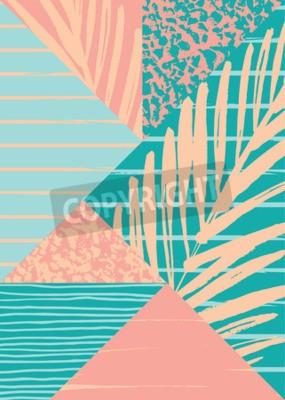 Фотообои Абстрактные композиции летом с рисованной старинные текстуры и геометрические элементы. Векторный шаблон для плаката, обложки, дизайна карты и других пользователей.