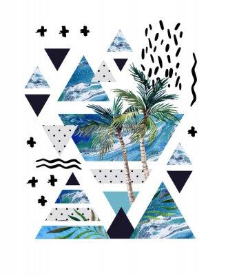 Фотообои Абстрактные летом геометрический дизайн плаката.