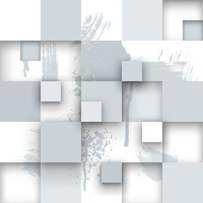 Фотообои Абстрактные текстуры с квадратами и краски брызг.