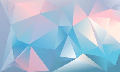 Фотообои Абстрактный фон треугольника. Светло-голубой, розовый и белый цвета.