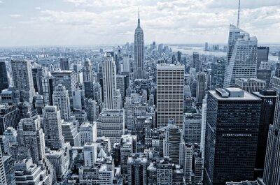 Фотообои Абстрактный вид с высоты до Манхэттена