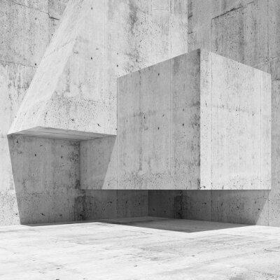Фотообои Абстрактный белый бетонный интерьер фрагмент 3 d