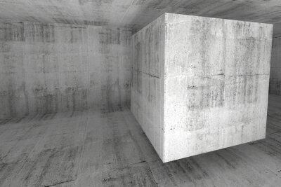 Фотообои Аннотация белый фон с бетона комнатной 3d куба