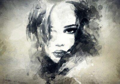 Фотообои абстрактный портрет женщины