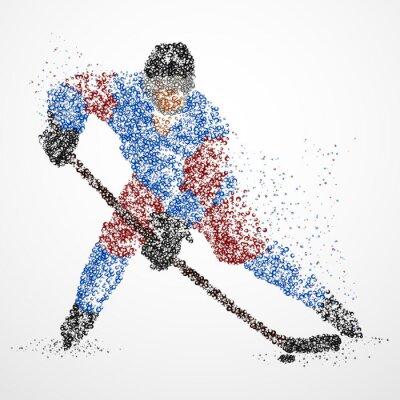 Фотообои абстракция, хоккей, лед, шайба