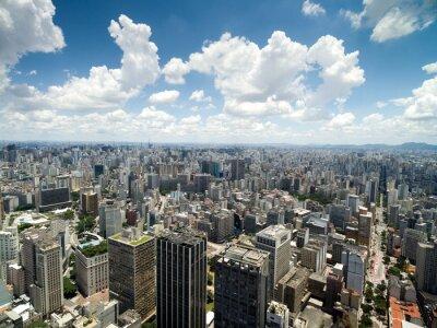 Фотообои Вид с воздуха Anhangabau долине, Сан-Паулу, Бразилия