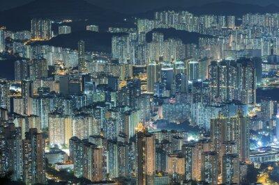 Фотообои Вид с воздуха на город Гонконг