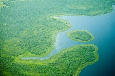Фотообои с высоты птичьего полета реки нильского