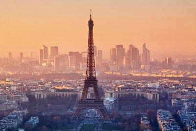 Фотообои Вид Парижа на закате