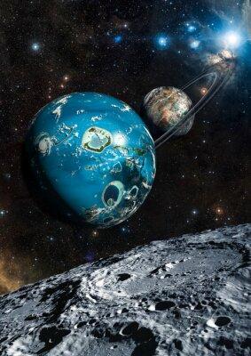 Фотообои Иностранец Exo Planet. Элементы этого изображения, предоставленную NASA