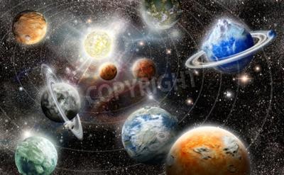 Фотообои Иностранец система планеты звезда в космосе