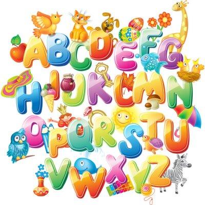 Фотообои Азбука для малышей с картинками