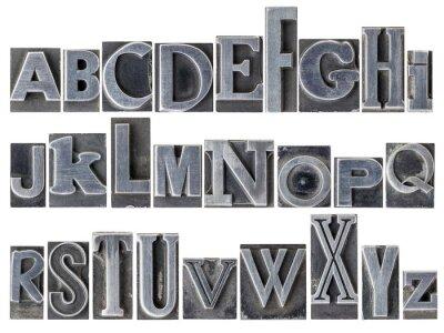 Фотообои азбука в смешанного типа металла
