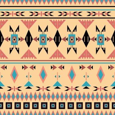 Фотообои Американские индейцы, бесшовные модели, векторные иллюстрации