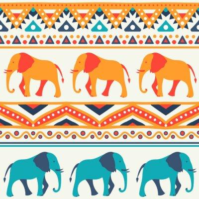 Фотообои Животное бесшовные модели вектор слона