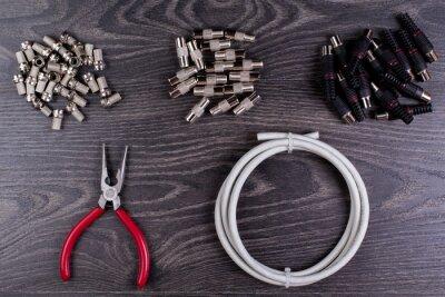 Антенна вилки и инструменты