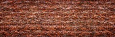 Фотообои Antique brick wall, panoramic view. Grunge stone texture.