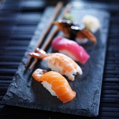 Фотообои Ассорти суши нигири на шифер