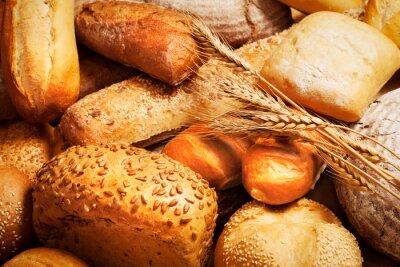 Фотообои Ассортимент хлеба с пшеницей
