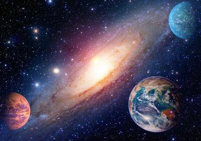 Фотообои Астрология астрономия земля космическое пространство Солнечной системы Марс планета Галактики Млечный Путь. Элементы этого изображения, предоставленную NASA.