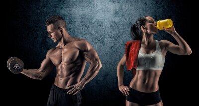 Фотообои Спортивное мужчина и женщина