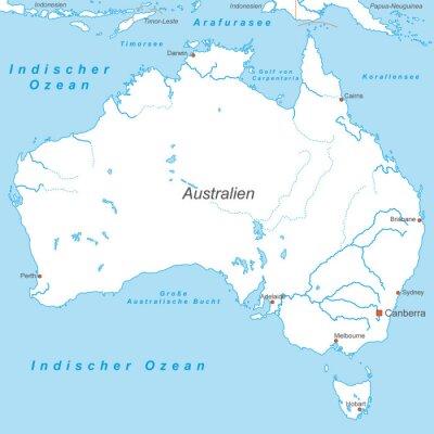 Фотообои Australien в Вайсс (beschriftet) - вектор