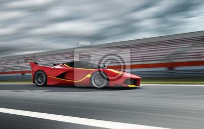 Фотообои Авто Сцена 216 красный спортивный автомобиль