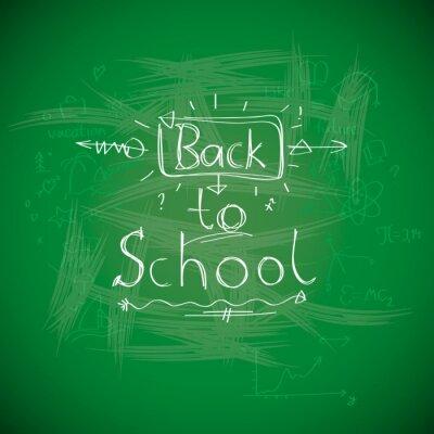 Фотообои Снова в школу, chalkwriting на доске, вектор EPS10 изображения.