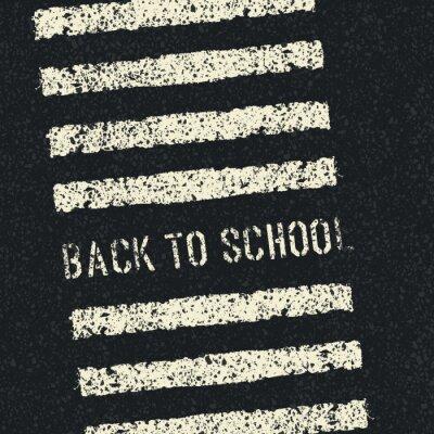 Фотообои Снова в школу. Безопасность дорожного движения понятие. Вектор.