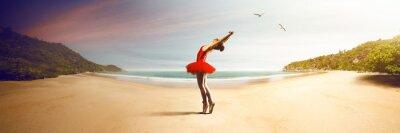 Фотообои Ballet Dancer at the beach