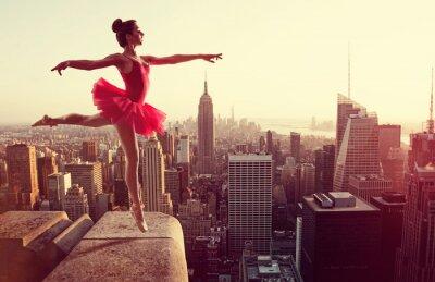 Фотообои Балерина перед Нью-Йорка