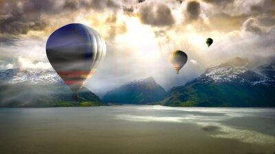 Фотообои Воздушный шар езды