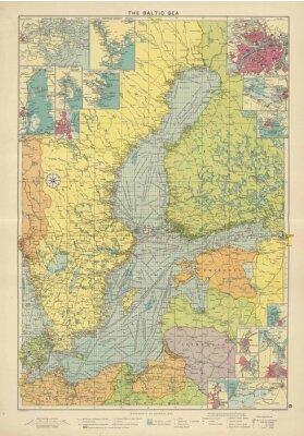 Фотообои Балтийское море старинные карты