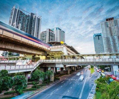 Фотообои Станция метро бангкок в сумерках