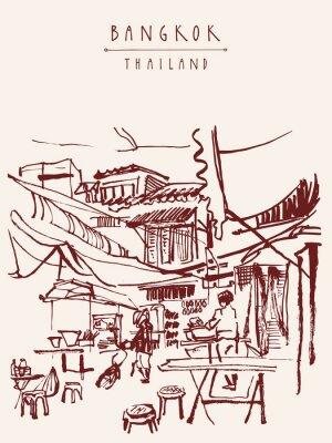 Фотообои Бангкок Таиланд рисованной открытку