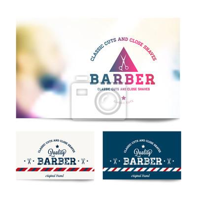 Barber shop business card PSD file  Free Download
