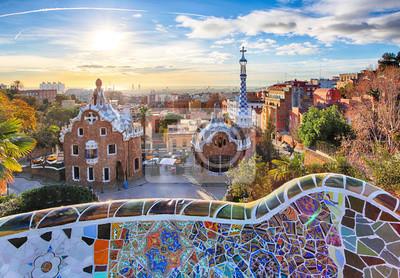 Фотообои Барселона - Парк Гуэль, Испания
