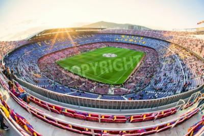 Фотообои БАРСЕЛОНА, ИСПАНИЯ - 19 АПРЕЛЯ: Футбольный стадион Ноу Камп 19 апреля 2017 года в Барселоне