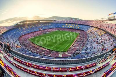 Фотообои БАРСЕЛОНА, ИСПАНИЯ - 19 АПРЕЛЯ: Футбольный стадион 19 апреля 2017 года в Барселоне