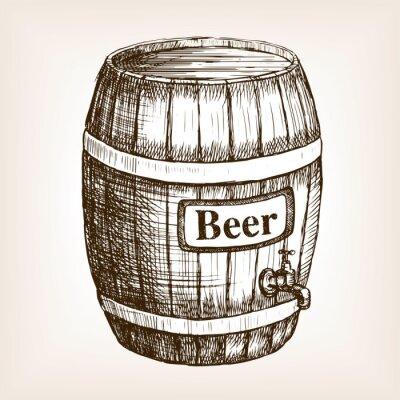 Фотообои Баррель вектора пива стиле эскиз