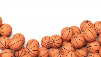 Фотообои Баскетбол шары изолированы на белом фоне