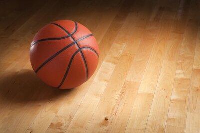 Фотообои Баскетбол на лиственных суда этаже с точечным освещением