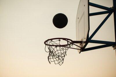 Фотообои баскетбол над кольцом