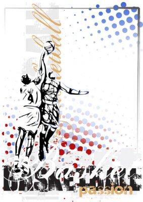 Фотообои баскетбол вектор плакат фон