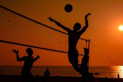 Фотообои Beach volleyball silhouette