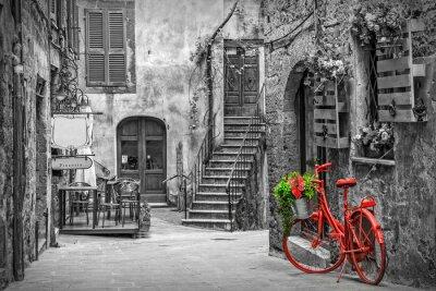 Фотообои Красивый переулок в Тоскане, Старый город, Италия