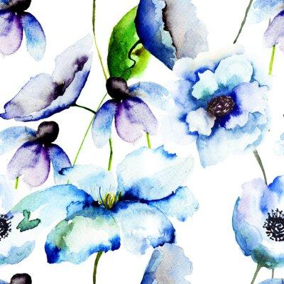 Фотообои Красивые голубые цветы