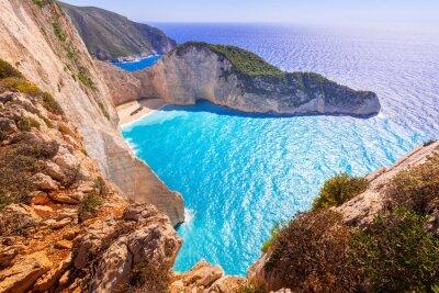 Фотообои Красивые Навагио Бич (пляж Кораблекрушение) на Закинтос, Греция