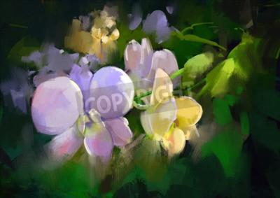 Фотообои beautiful painting of orchid flowers
